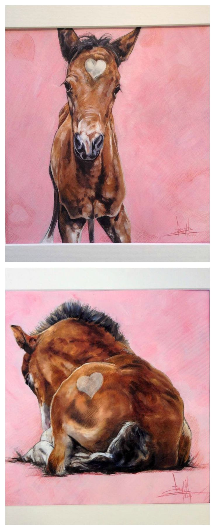 Pink horse. Tony O'Connor whitetreestudio.ie