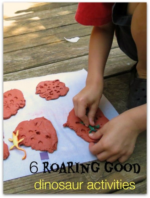 5 Roaring Good Dinosaur Activities (includes a list of 6 great dinosaur books too)