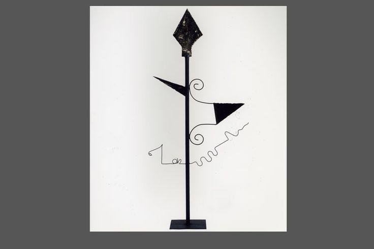 Mago Merlino - scultura in ferro