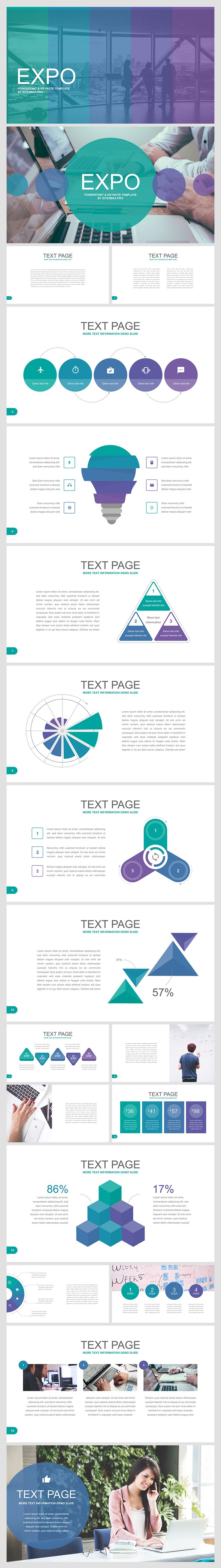 Main expo free powerpoint template