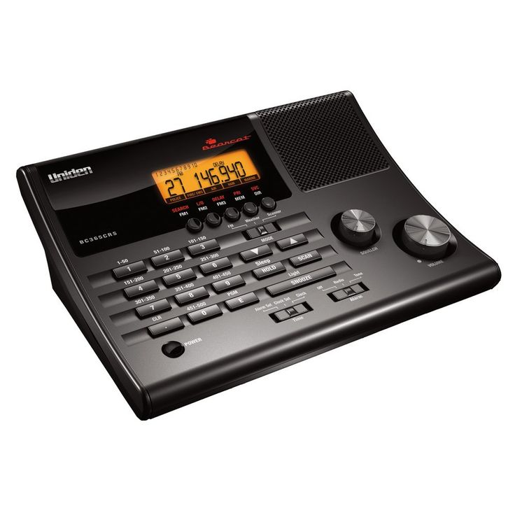 Uniden BC365CRS 500 Channel Clock/FM Radio Scanner with Weather Alert ** Learn more by visiting the image link.