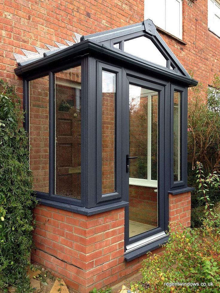 The 25 best ideas about upvc porches on pinterest house for Small double front doors