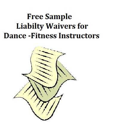 Download a set of free sample liability waivers for dance-fitness - general liability release form template