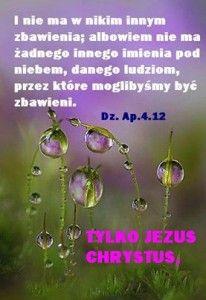 Zbawienie jest tylko i wyłącznie w Panu Jezusie Chrystusie.