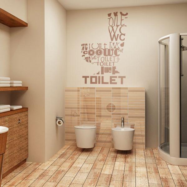 Vinilo decorativo Toilet Idiomas