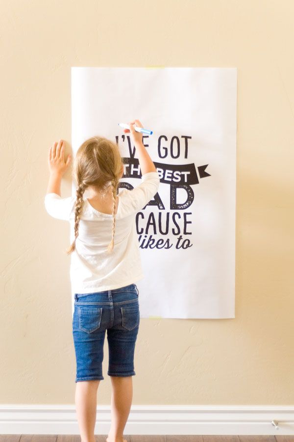Free Printable Father's Day Poster -
