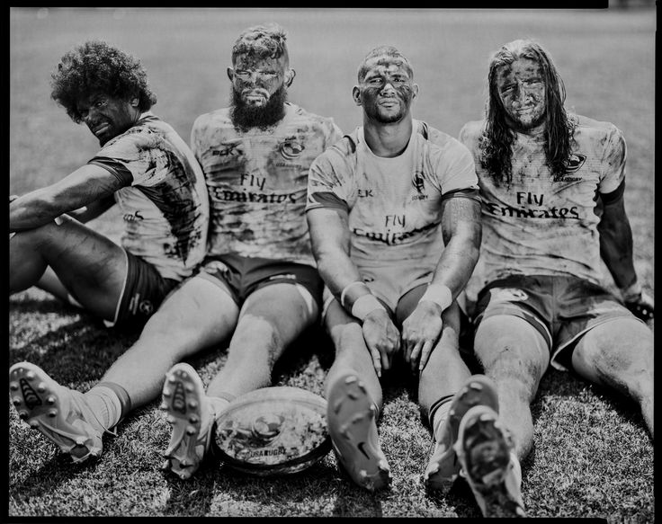 People, Third Prize, Stories—<i>Olympians</i>: Folau Niua, Danny Berret, Martin Iosefo, and Garrett Bender will be part of the men's sevens US rugby team at the 2016 Rio Olympics and are photographed at the Olympic Training Center in Chula Vista, California. A series of portraits of Olympic athletes from California headed to the 2016 Olympics in Rio de Janeiro, Brazil. The USA took more than 550 athletes to compete in 20 sports of the Summer Games.