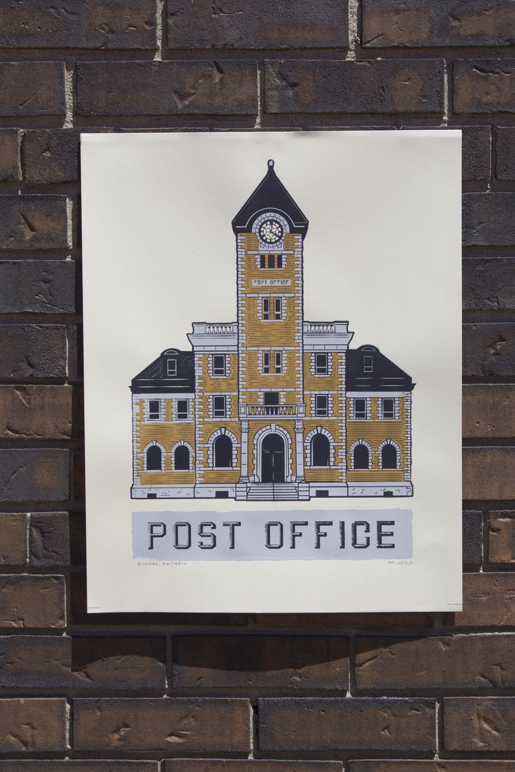 Dundas Post Office Screen Print
