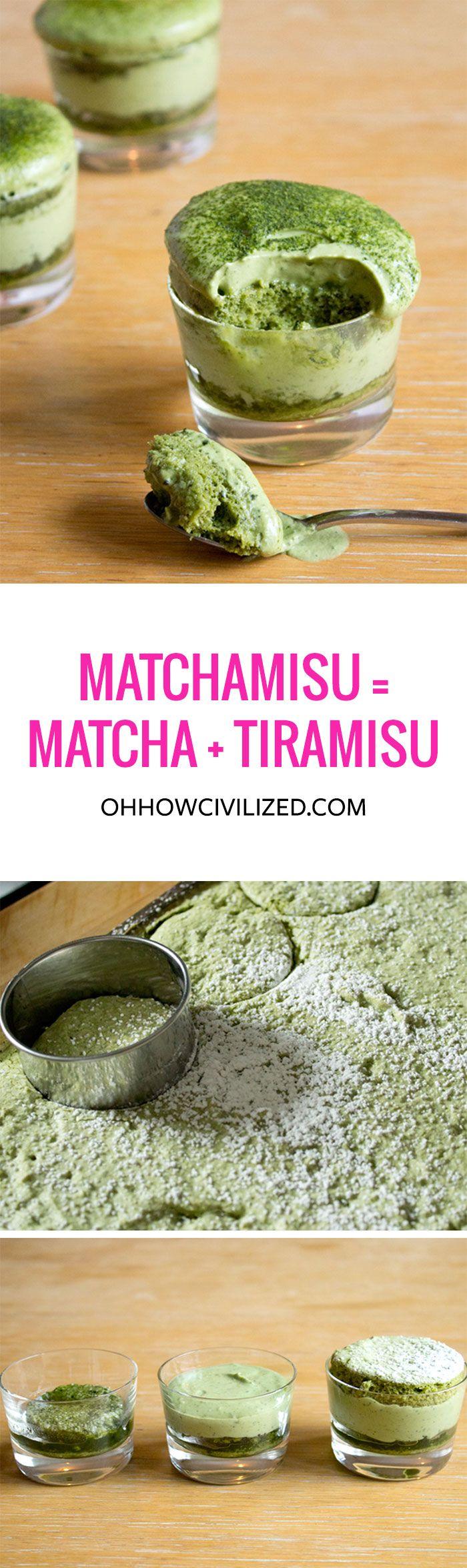 Matchamisu = Matcha (Green Tea) + Tiramisu
