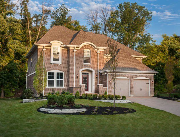 The clay french manor exterior by fischer homes new for French manor homes