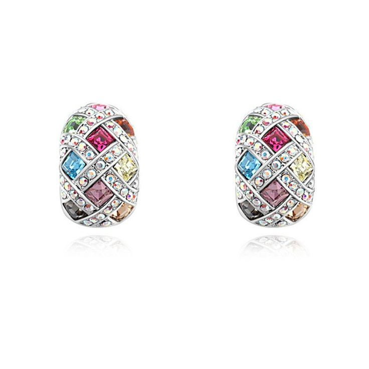 Austrian Crystal Stud Earrings - First Dream
