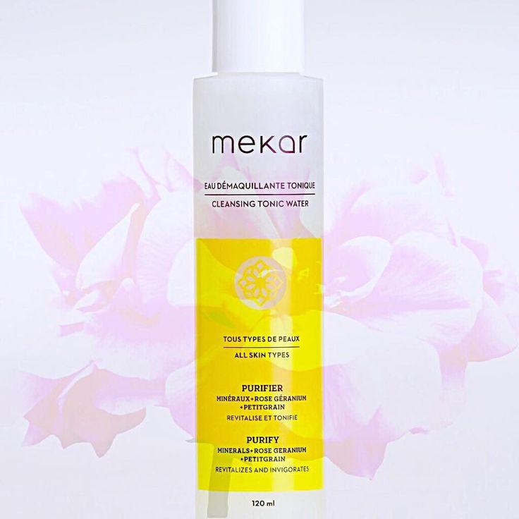 Si vous avez déjà utilisé l'Eau démaquillante tonique, vous avez probablement été envouté par son odeur de rose géranium et charmé par sa douceur exceptionnelle. C'est un indispensable pour apaiser, nettoyer et tonifier la peau.  http://mekar.ca/produits/eau-demaquillante-tonique?utm_content=bufferc205b&utm_medium=social&utm_source=pinterest.com&utm_campaign=buffer //  If you have already used Cleansing tonic water, you've probably been delighted by its rose geranium scent and charmed by its…