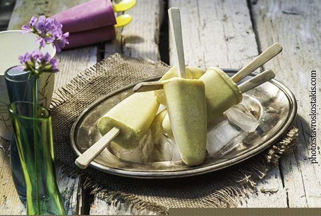 Για σας που προσέχετε τη γραμμή σας, ένα παγωτό από το βιβλίο μου Δροσερά Γλυκά, μόνο με 120 θερμίδες ανά μερίδα!