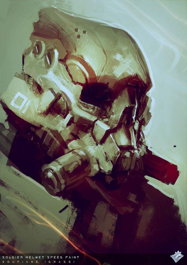 Soldier Helmet Speedpaint - Soufiane Idrassi