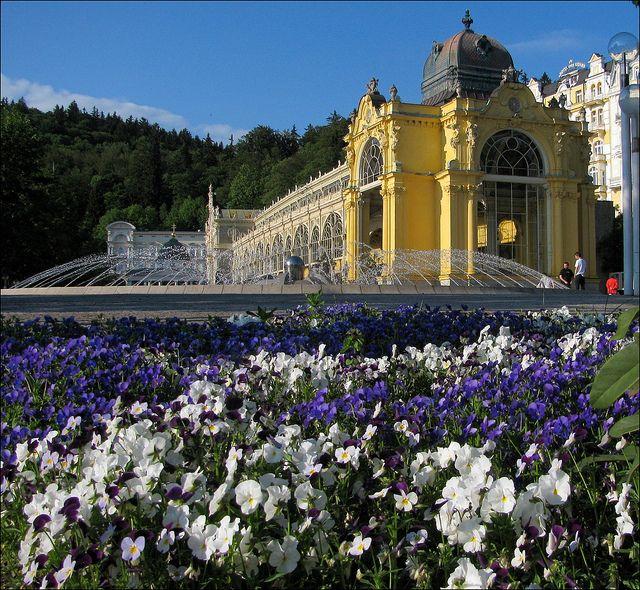 Mariánské Lázně, a spa town in Western Bohemia, Czech Republic