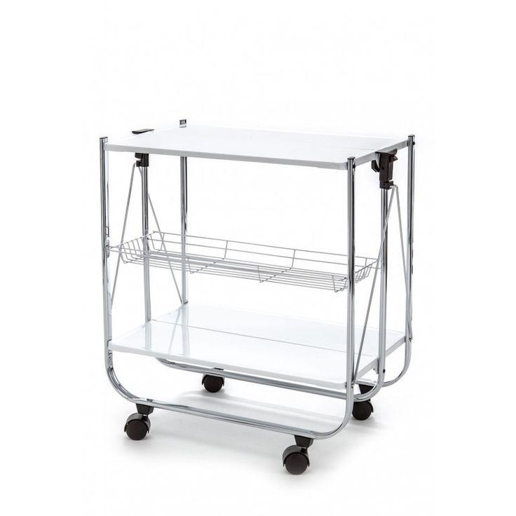 Kit è un carrello richiudibile di Tomasucci. Può essere utilizzato in cucina, nella zona giorno, o anche in camera da letto. Sfruttalo come preferisci. Funzionale e d'arredo allo stesso tempo.
