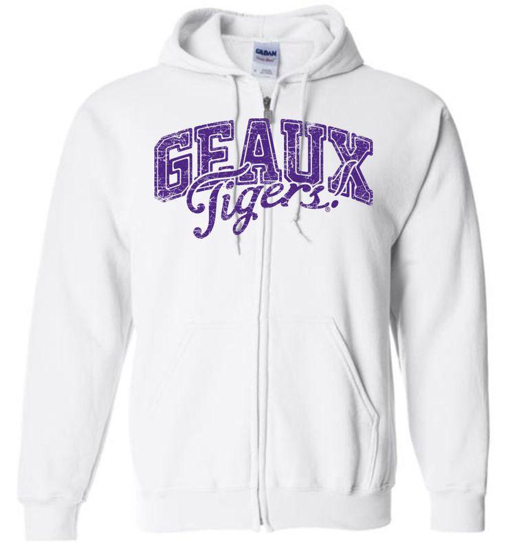 NCAA Louisiana State University LSU Geaux Tigers Basic Zip Hoodie - lsut1051