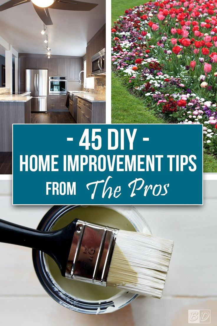 Save time and money, don't start your next DIY home improvement project until you've read these 45 tips from the pros! Our guide provides you with step by step instructions for common home improvement DIY projects, with all of the inside tips to ensure success. Click here and read The Exceedingly Comprehensive Guide To DIY Home Improvement For First-Time Homeowners and get started today!