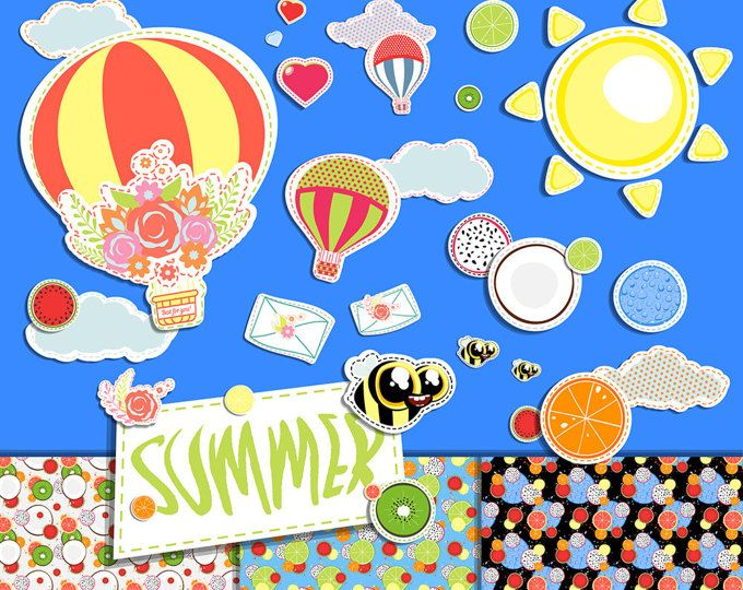 BUY 2 GET 1 FREE any items - Elements of scrapbooking - png - Clipart - Design - Fun summer set - Transparent background - Printable - Book