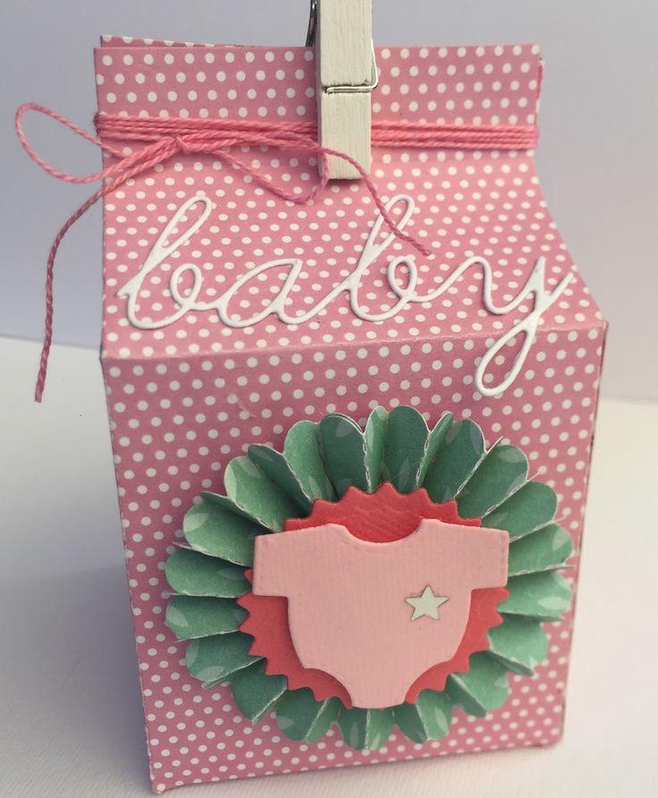 Pensieri di carta: Milk box for a sweet baby girl - packaging