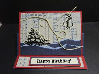 BaRb'n'ShEll Creations  - Masculine Birthday Card - created by Shell
