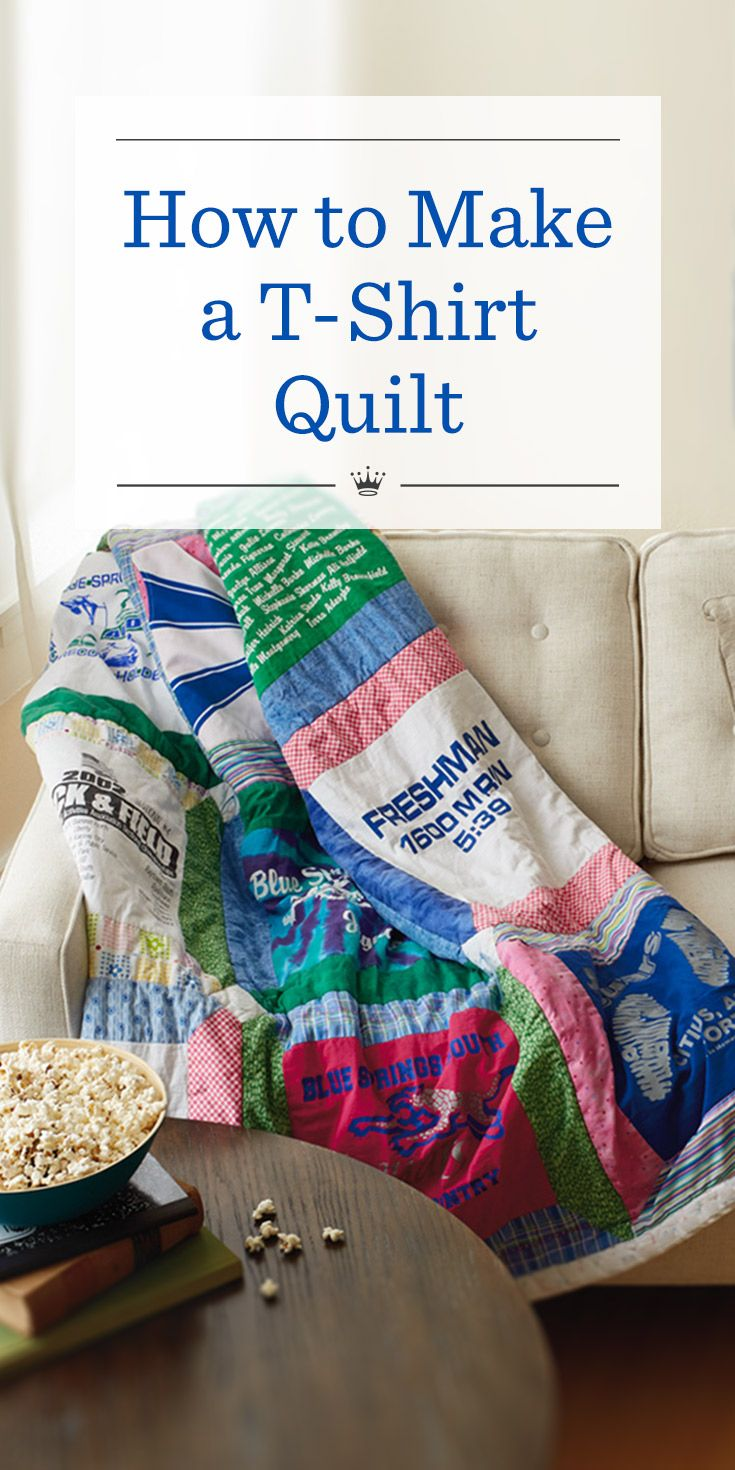 T-shirt quilt design instructions - How To Make A T Shirt Quilt Send Kids Off To College With A
