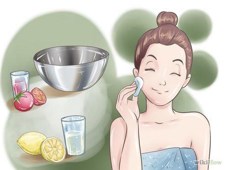 Beseitigen von grossen Poren und Hautunreinheiten