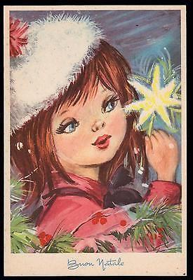 Pmce Cartolina Buon Natale Fg N Serie 1187/6 - Bimba  Stella