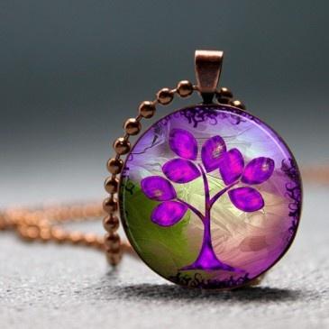 Purple Tree Of Life Pendant
