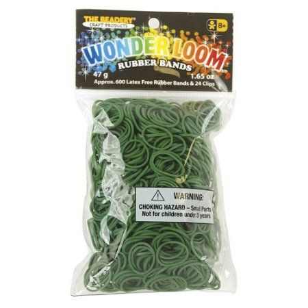 Green rubber bands for the Wonder Loom from The Beadery