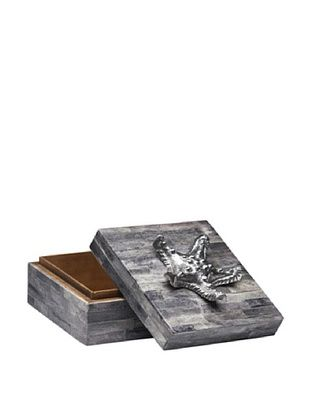 60% OFF Dynasty Gallery Buffalo Horn Box with Starfish (Grey/Silver)