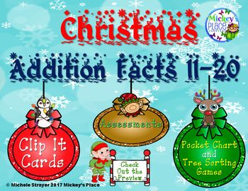 Christmas Addition Facts 11 - 20 Math Centers Christmas Addition Facts 11 - 20 Math Centers is a GREAT springboard for you to use in your classroom. ✴ Your students will be able to practice any of the addition facts
