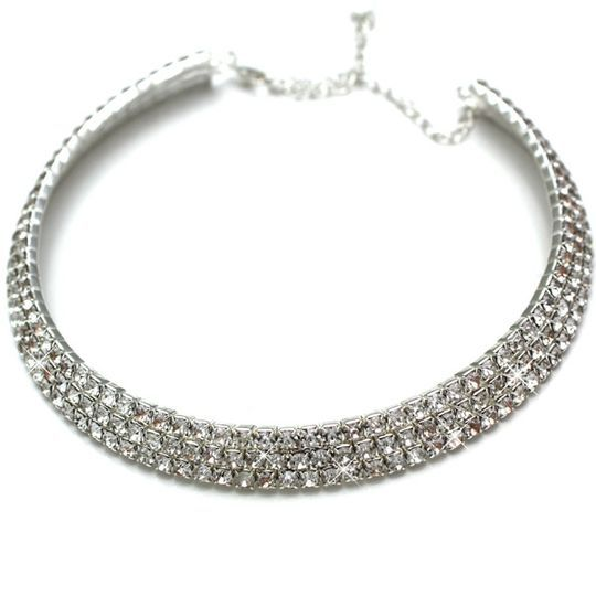 Avanni Silver Statement Crystal Choker - just in £26.99