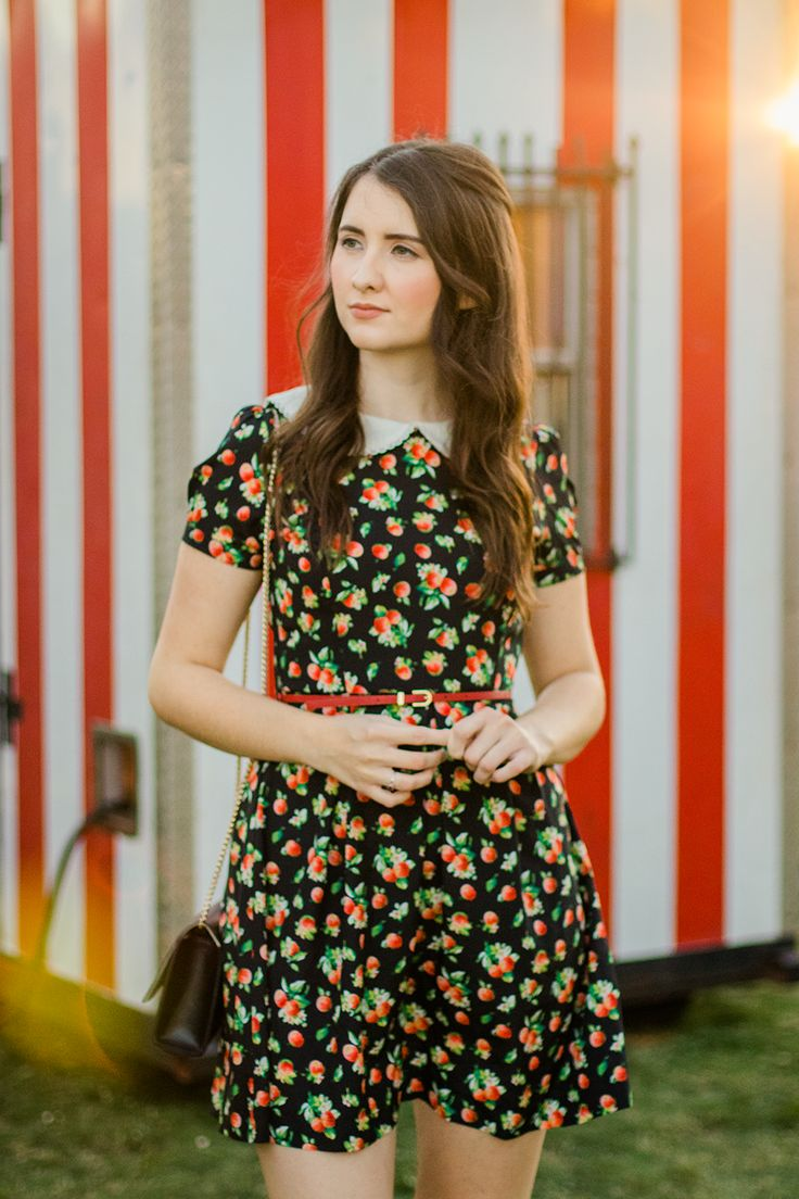 Merry Go Round | Carousel | Dress | Peter Pan Collar | Summer | Vintage | Dress | Floral | Ruche | Fashion | Cruelty-Free | Outfit