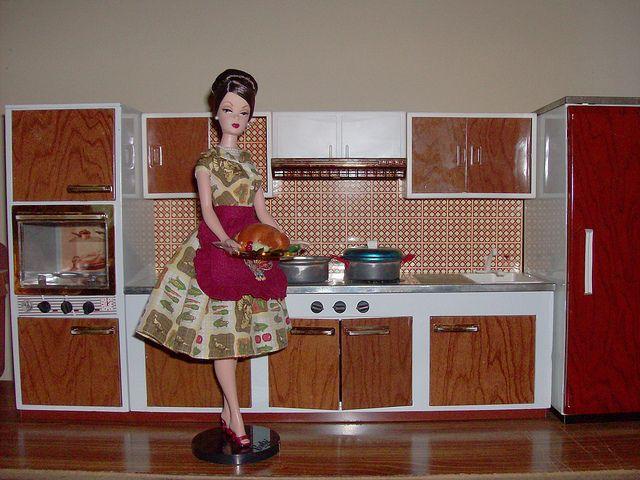Thanksgiving Barbie's Kitchen 1   Flickr - Photo Sharing!