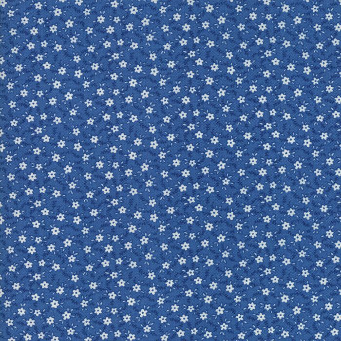 """""""Sea""""-Floral Kids Bashful Blossoms Dark Blue 30's Playtime 2017 by Chloe's Closet for Moda"""