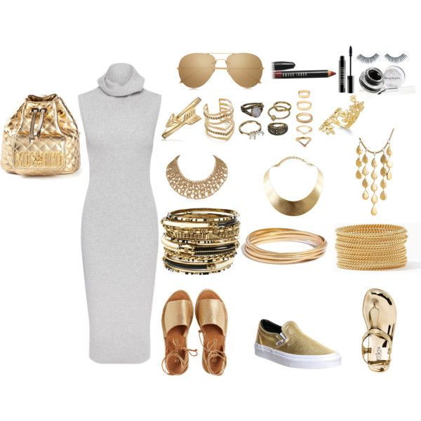 gold & grays by angelflames on Polyvore featuring Whistles, Kaanas, Michael Kors, Vans, Moschino, John Hardy, Amrita Singh, SunaharA, GUESS and Madewell