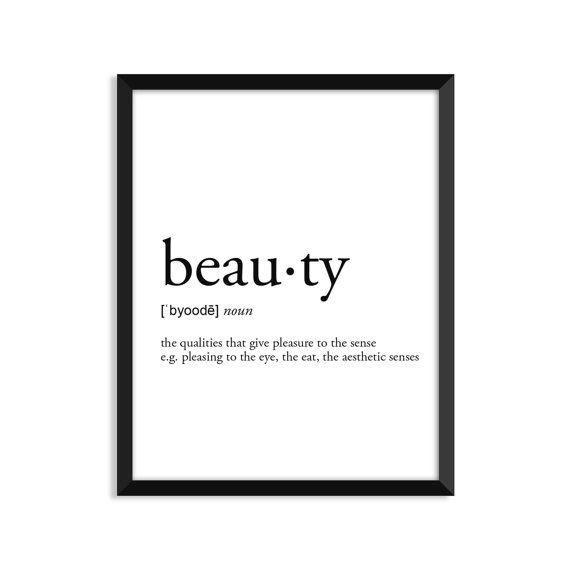Belleza definición romántico Diccionario lámina decoración