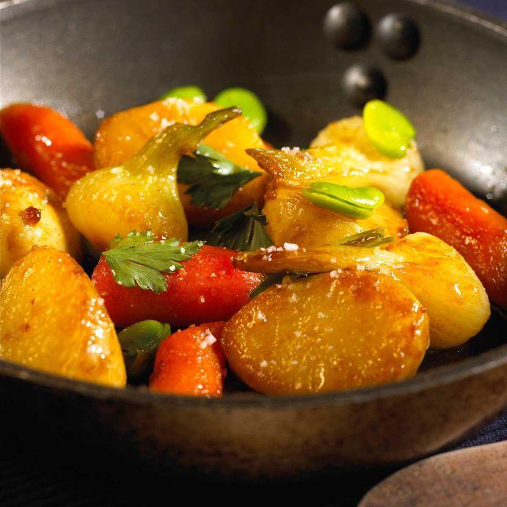 Recette poêlée de pommes de terre nouvelles et autres légumes...