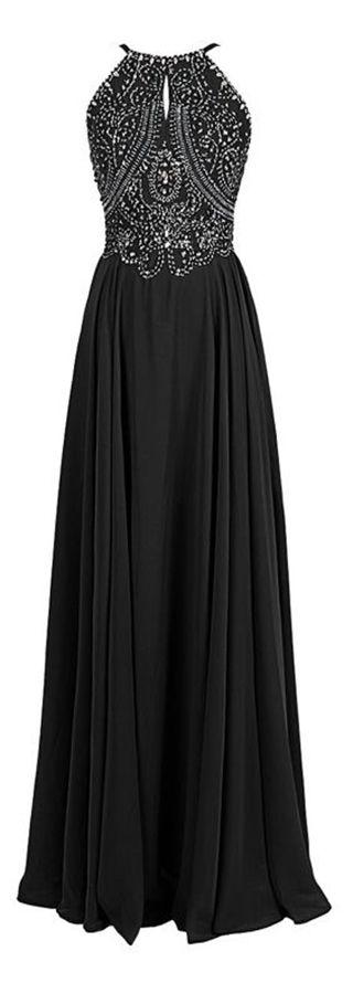 Lindo vestido Preto com detalhes em pedras.