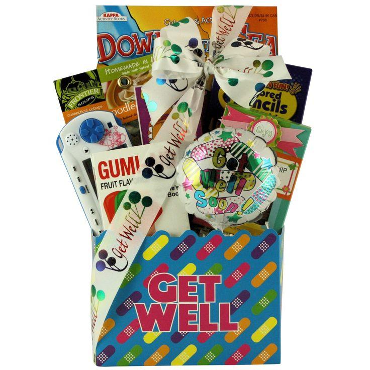 Kids Get Well Gift Basket, Brown