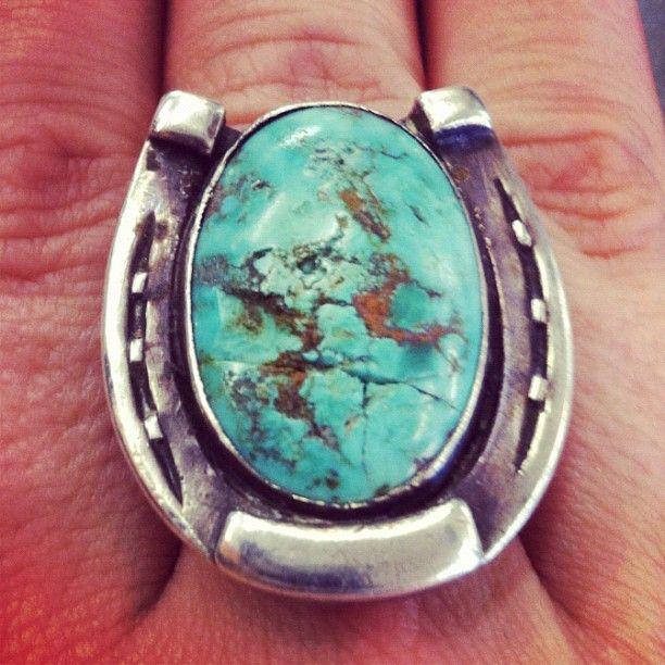 Amazing turquoise horse shoe ring, $75 at Buffalo Exchange Albuquerque