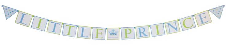 Little Prince Themed Baby Shower Decorations with a Personalized Crown Divider in center