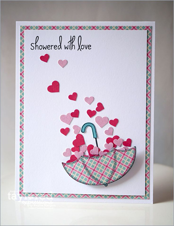 Showered with Love Card by Regina Mangum