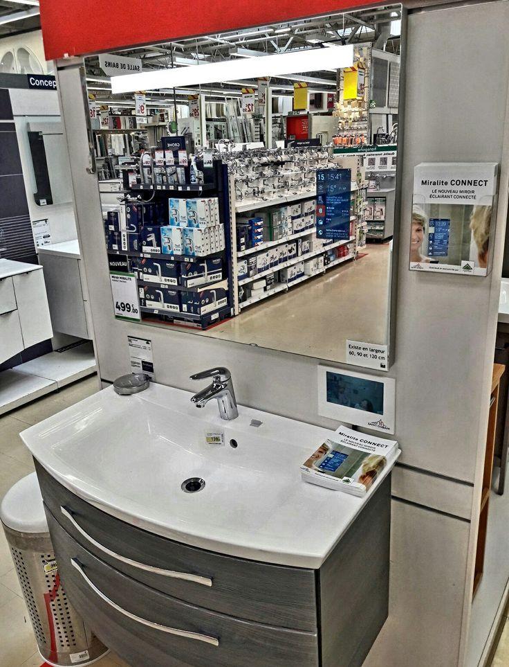 Miroir intelligent disponible chez Leroy Merlin Livry Gargan. Miroir Bluetooth, Antibuée ...