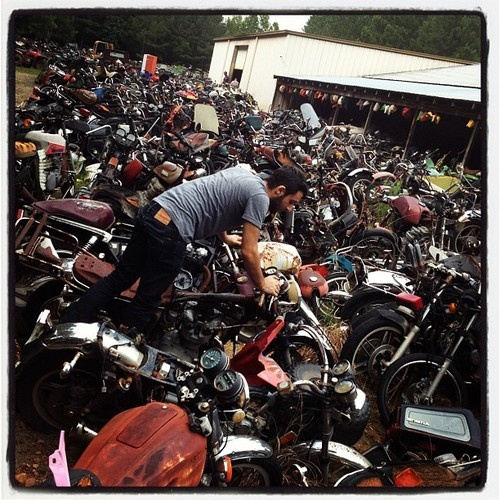 Motorcycle salvage yard inspiration life pinterest for Motor cycle junk yard