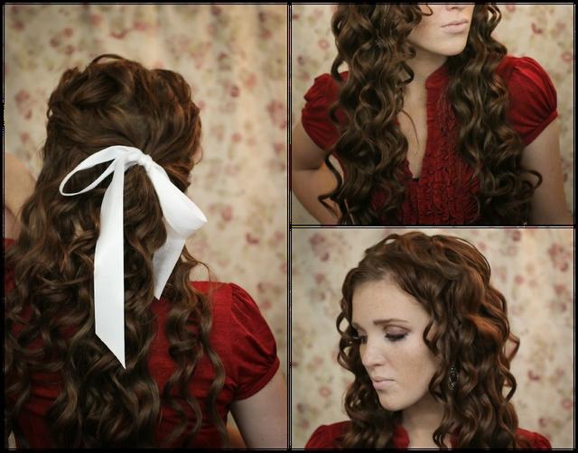 The Freckled Fox : Holiday Hair Week - Tutorial #4: Mermaid Curls