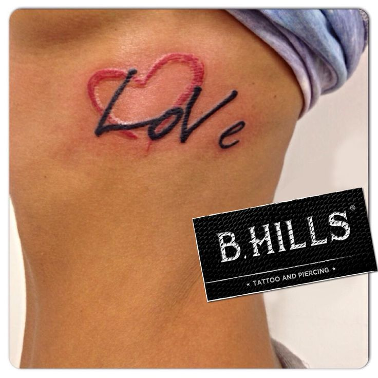 #LetteringTattoo #tattoo #lettering #BhillsTattooCompany #lovetattoo #redheartattoo #LadyOktopustattooartist