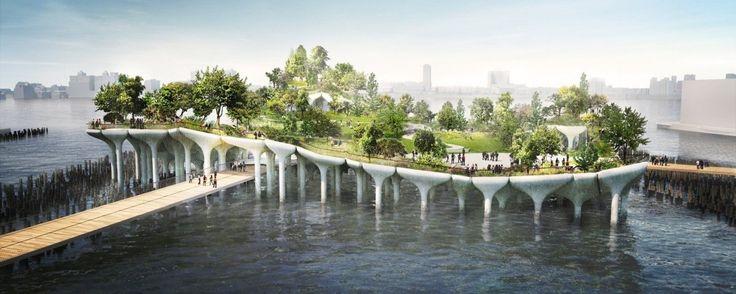 Park, który rośnie na rzece