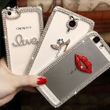 3D Shine luxury Bling Transparent Clear Crystal Soft Gel Back Case Cover skin #4